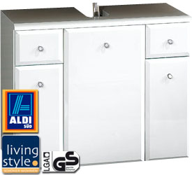 aldi design spiegelschrank und waschbecken unterschrank f r je 89 99 euro nonstop shopping. Black Bedroom Furniture Sets. Home Design Ideas